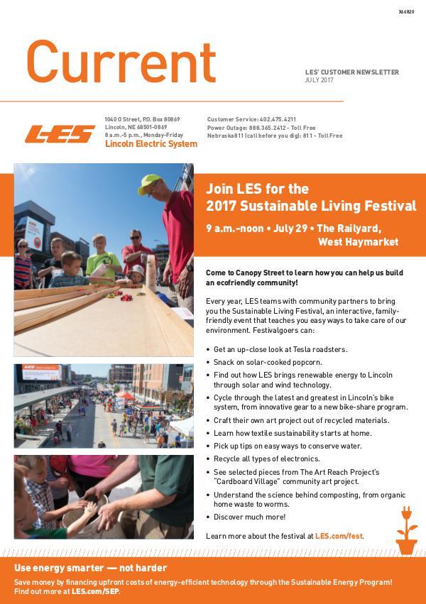 Current  | LES Customer Newsletter Current - July 2017