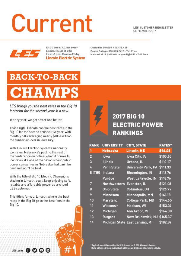 Current  | LES Customer Newsletter Current - September 2017