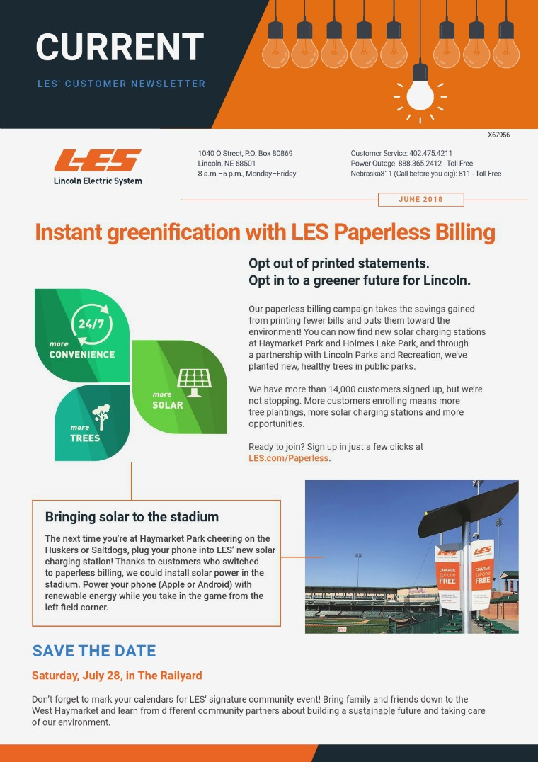 Current  | LES Customer Newsletter Current - June 2018