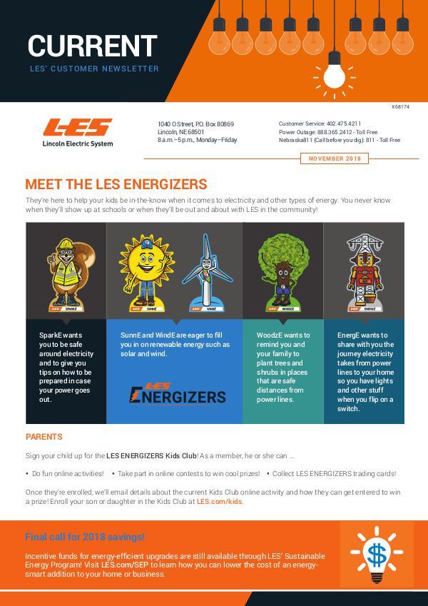 Current  | LES Customer Newsletter Current - November 2018