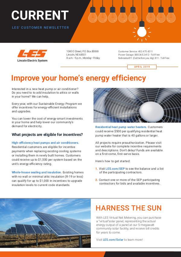 Current  | LES Customer Newsletter Current - April 2019