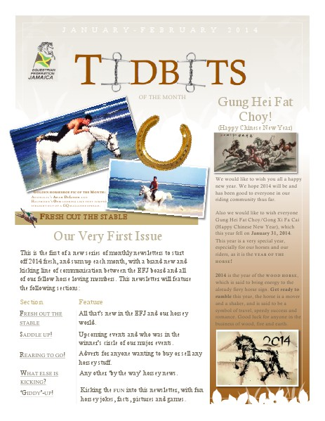 Tidbits of the Month - Equestrian Federation of Jamaica January - February 2014