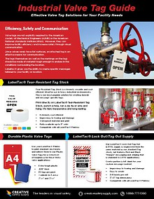 Valve Tags Guide - Creative Safety Supply