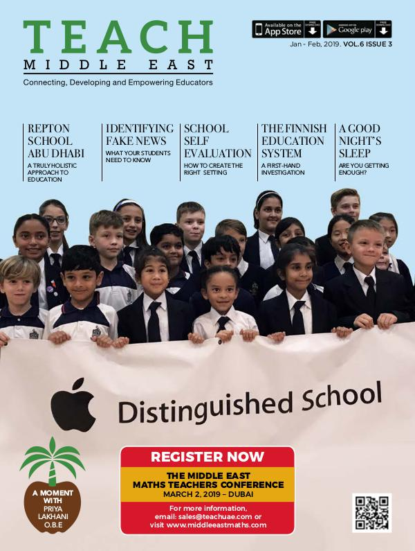 Teach Middle East Magazine Jan-Feb 2019 Issue 3 Volume 6