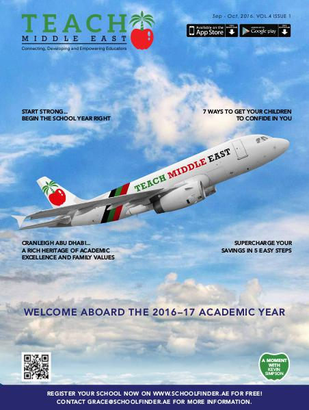 Teach Middle East Magazine Sep-Oct 2016 Issue 1 Volume 4