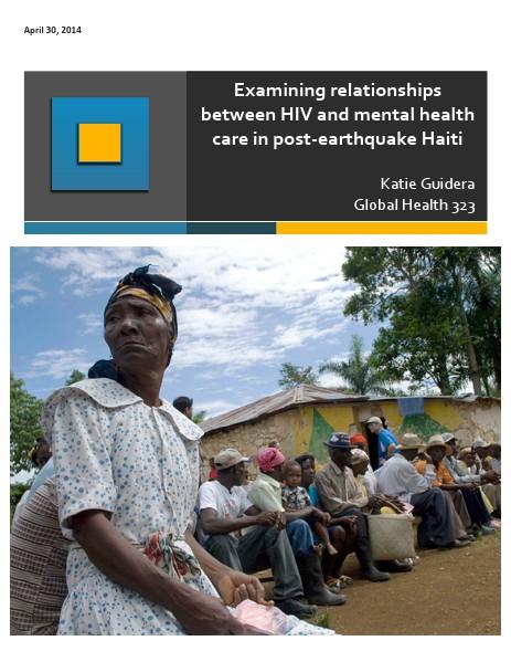 Trauma, Mental Health, & Haiti Final Project - Katie Guidera April 2014