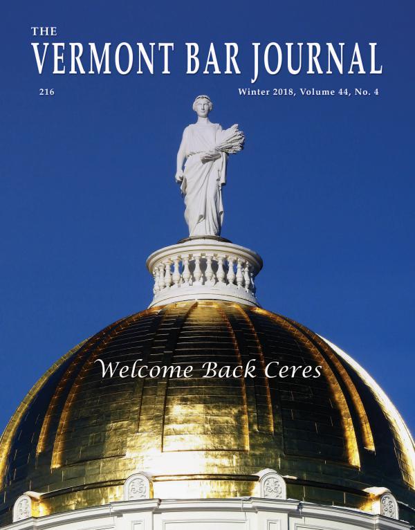 Vermont Bar Journal, Winter 2018