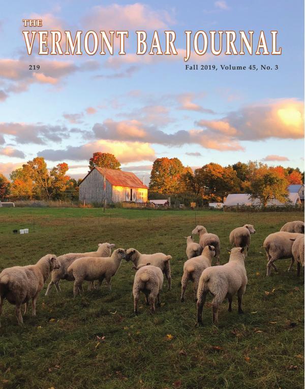 Vermont Bar Journal, Fall 2019