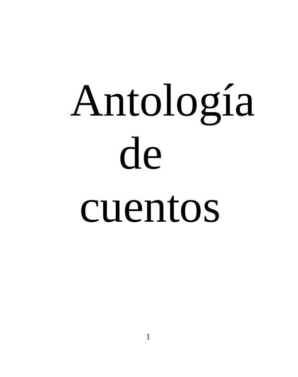 LIBRO DE CUENTOS DE 4°A Antología de cuentos