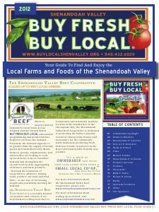_2012 Shenandoah Valley Buy Fresh Buy Local Guide_ Sep. 2012