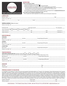 Collins Parts Retailer Application