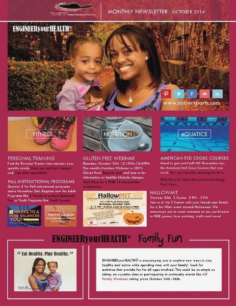 MIT Recreation Monthly Newsletter July 2014