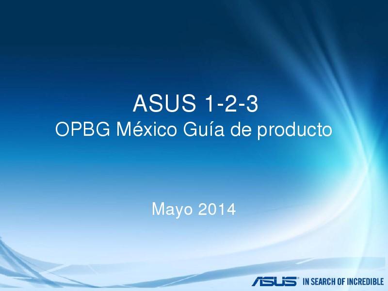 ASUS 1-2-3 Mexico Mayo 2014