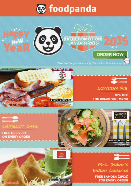 foodpanda monthly e-deal brochure - E-DEALS | JANUARY 2015