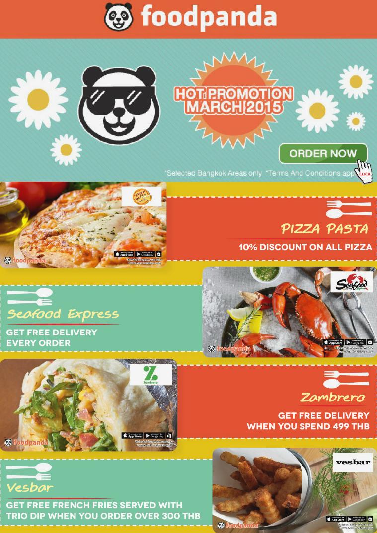 foodpanda monthly e-deal brochure -E-DEALS| MARCH-