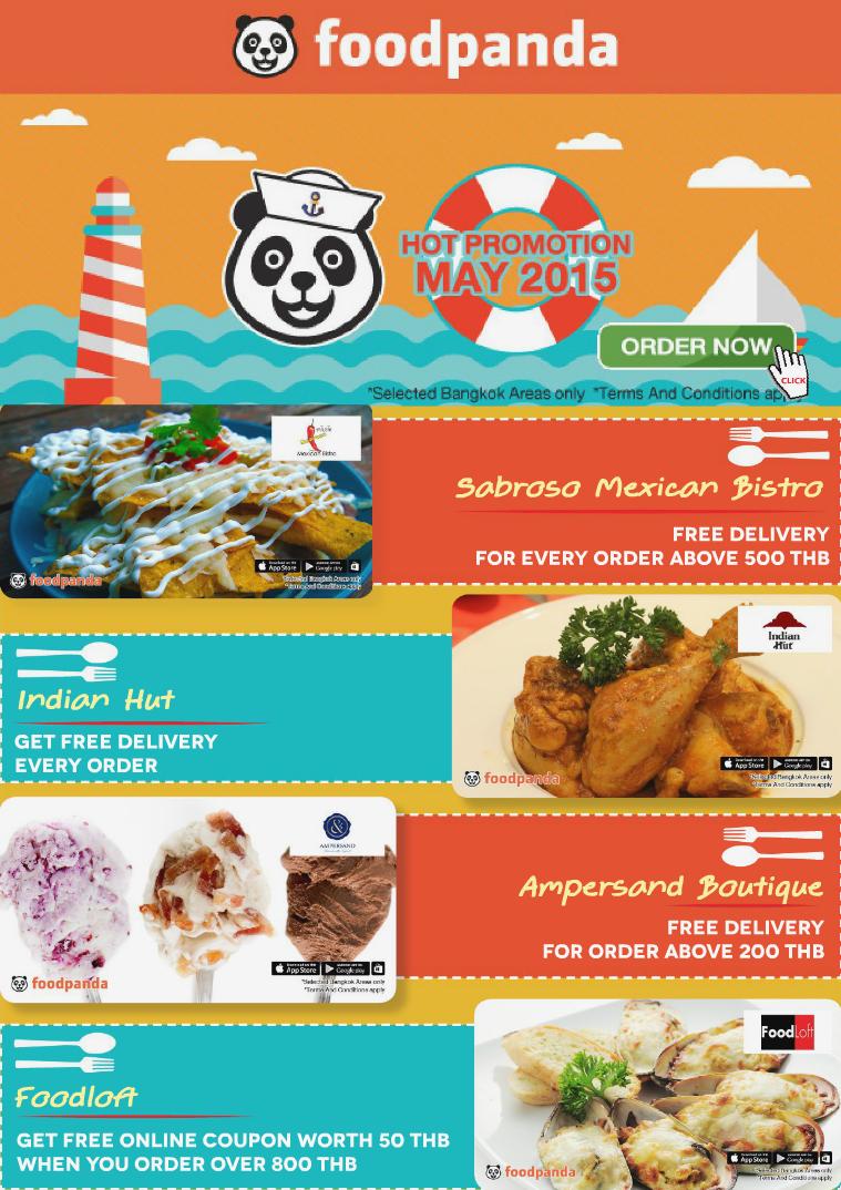 foodpanda monthly e-deal brochure E- DEALS | MAY