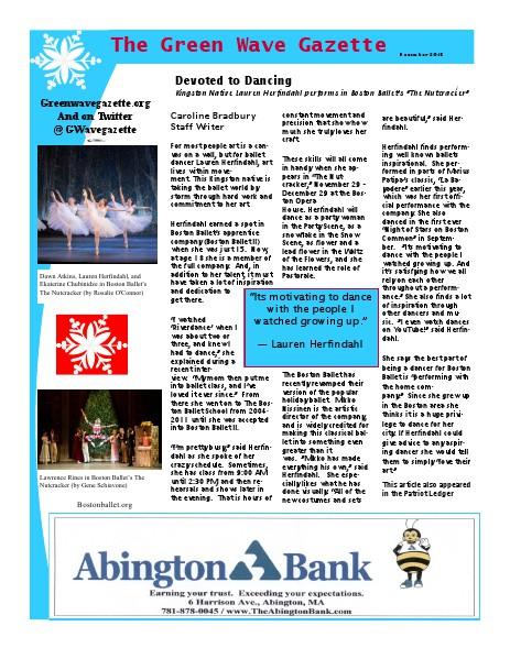 The Green Wave Gazette November/December 2013