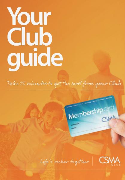 CSMA Club Membership Brochure - 2014 May. 2014