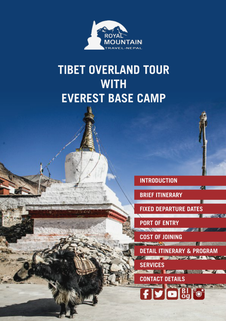 Tibet Overland Tour With Everest Base Camp 2017