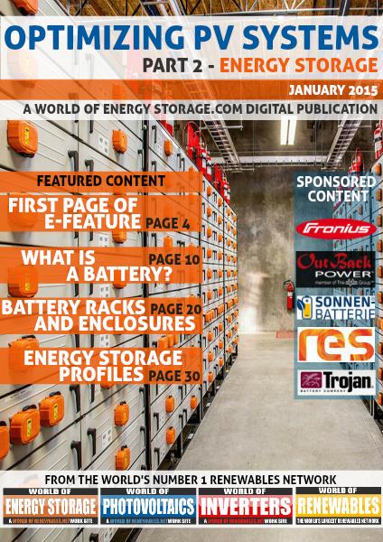 Optimizing PV Systems January 2015 - Part 2: Energy Storage