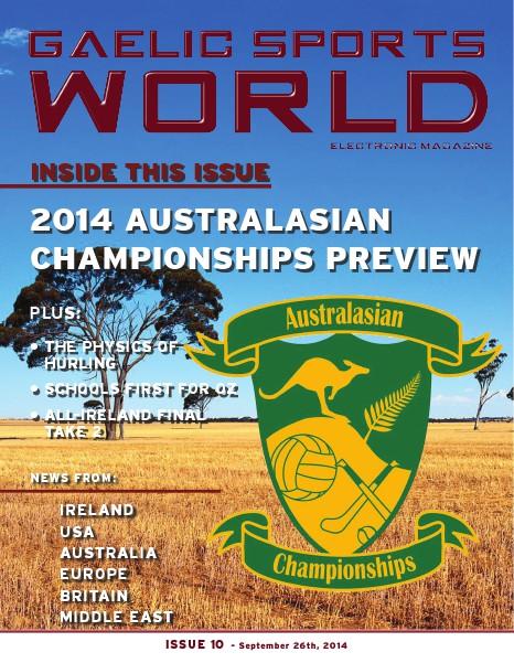 GAELIC SPORTS WORLD Issue 10 - September 26, 2014