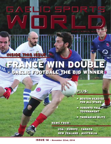 GAELIC SPORTS WORLD Issue 14 - November 21, 2014