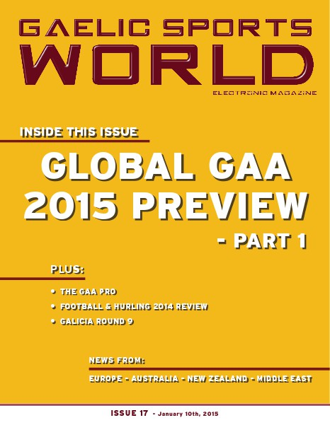 GAELIC SPORTS WORLD Issue 17 – January 10, 2015