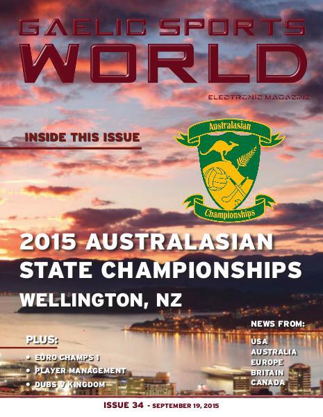 GAELIC SPORTS WORLD Issue 34 – September 19, 2015