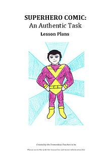 Superhero Comic: Lesson Plans