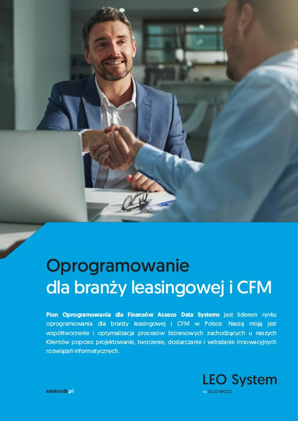 Broszura: Oprogramowanie dla branży leasingowej i CFM leo_broszura_pl_web