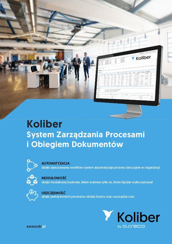 Koliber System Zarządzania Procesami i Obiegiem Dokumentów koliber_broszura_final