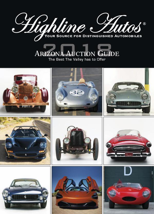 Highline Autos 2018 Arizona Auction Guide