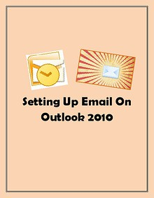 Setting Up Email on Outlook 2010