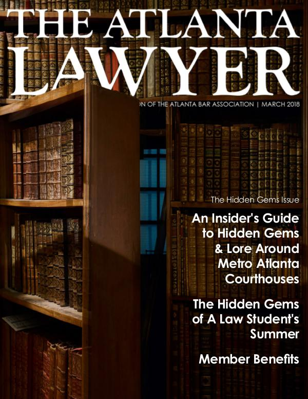 The Atlanta Lawyer March 2018