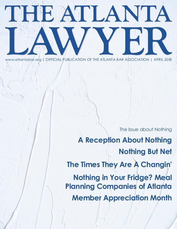 The Atlanta Lawyer April 2018