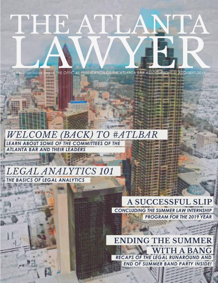The Atlanta Lawyer August/September 2019
