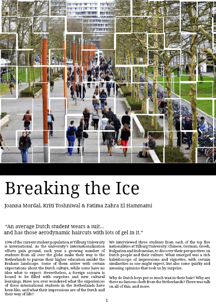 Breaking the Ice 29 May 2014