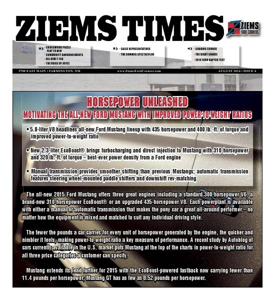 Ziems Times August 2014