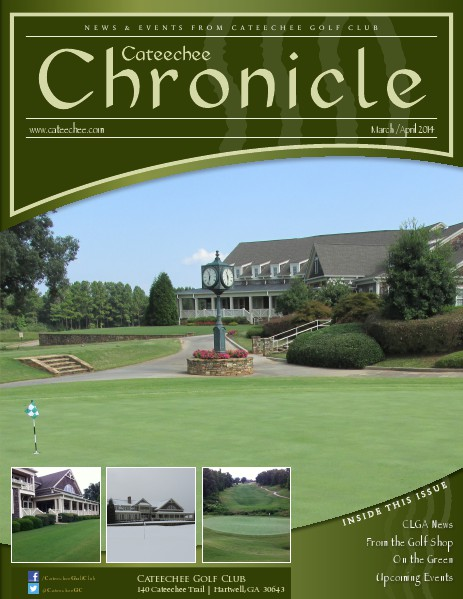 Cateechee Chronicle March - April 2014