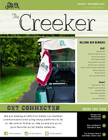 Mill Creek Country Club Member Newsletter