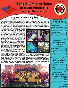 City Year Sacramento: Bank of America Team Newsletter