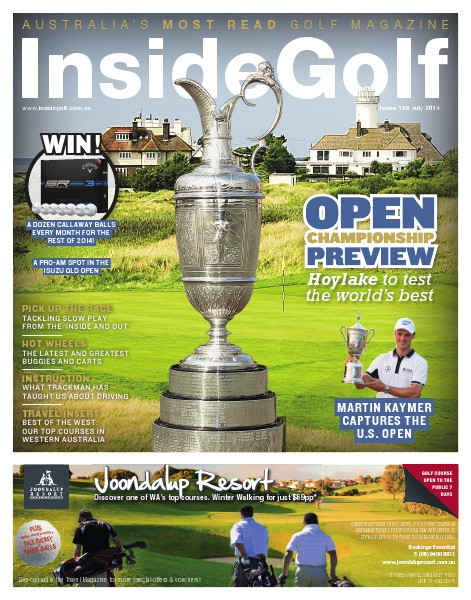 Inside Golf, Australia. July 2014
