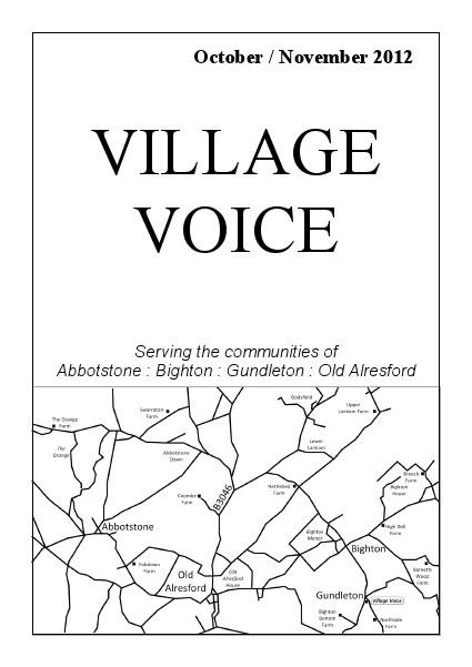 Village Voice October/November 2012