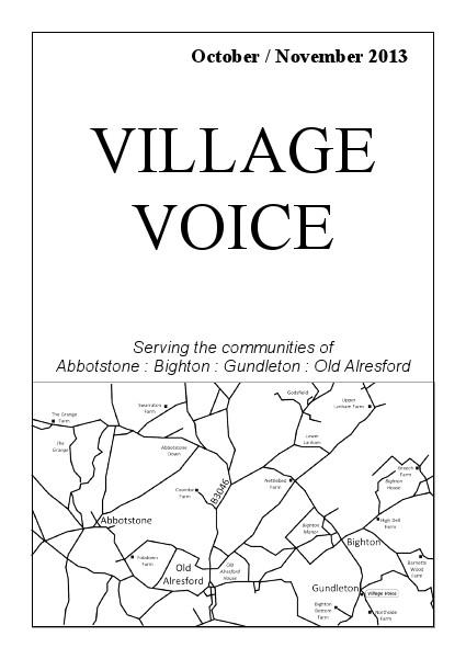 Village Voice October/November 2013