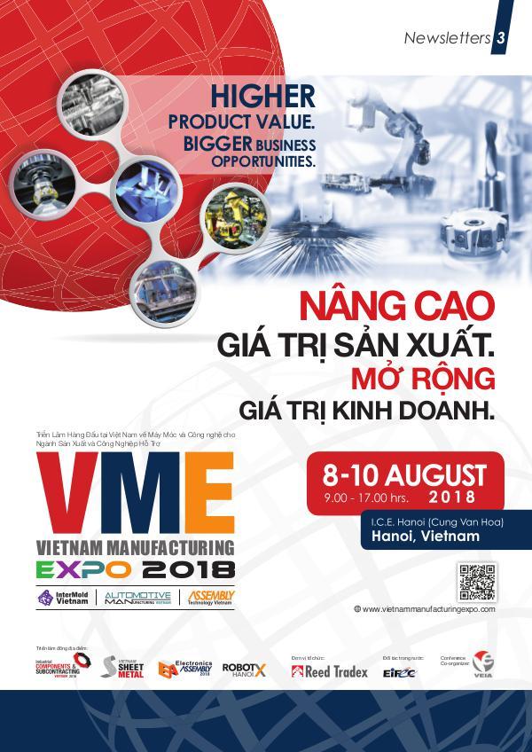 Vietnam Manufacturing Expo 2018 Newsletter#3 VME 2018_Newsletter#3_Lowres