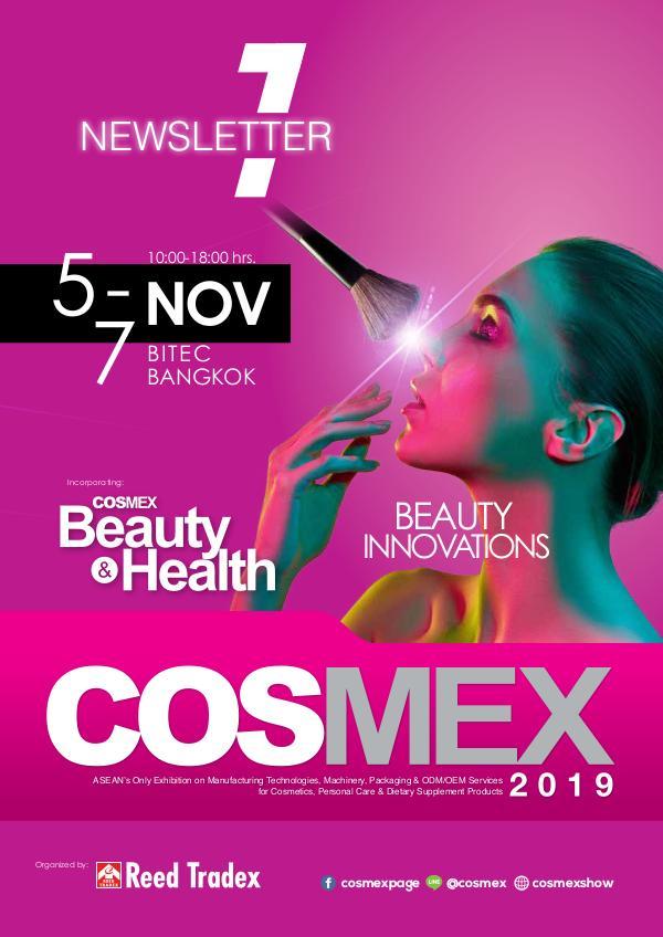 COSMEX 2019 Newsletter#1 1