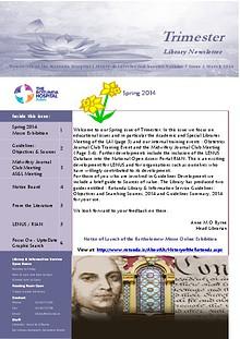 TRIMESTER - Rotunda Library Newsletter
