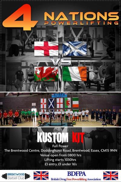 4 Nations Powerlifting Jun. 2014
