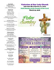 VOL Parish Weekly Bulletin