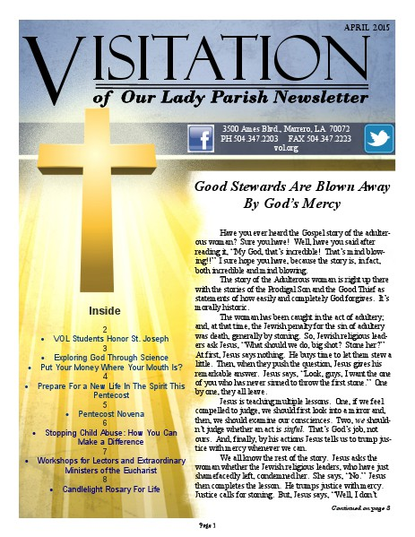 June 2018 SPECIAL EDITION April, 2015 Newsletter